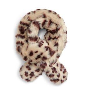 Nordstrom BP Faux Fur Snow Leopard Scarf